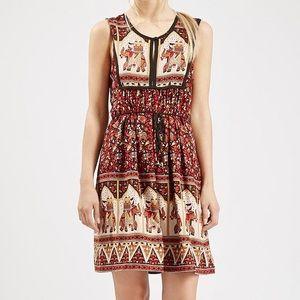 Band of Gypsies elephant boho print shift dress